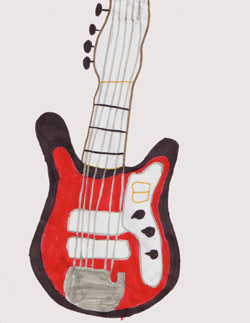 The $100 Guitar, art by Cecile